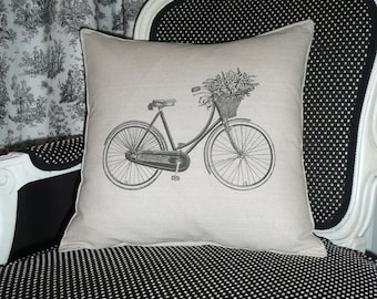 Ma Bicyclette (My Bicycle) Pillow Cover