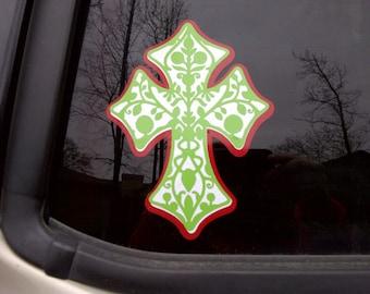 Cross Car Decal