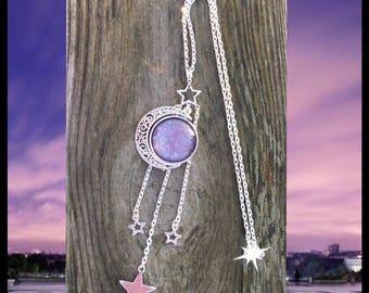 Purple sparkle necklace
