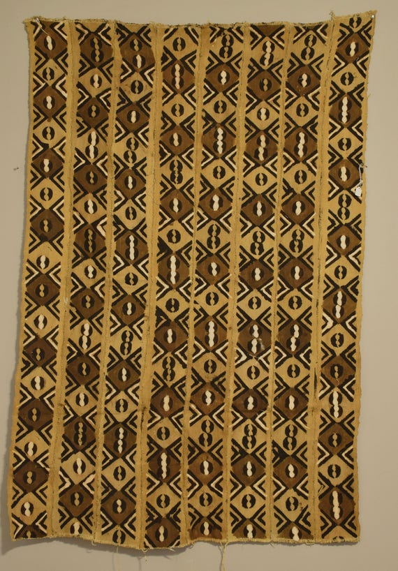 """African Mudcloth Brown Black White Patten Dogon Cloth Fabric Brown Mudcloth 67"""""""