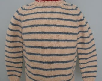 Striped Pullover Baby Sweater