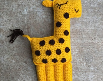 Crochet Giraffe ragdoll, cuddler, stuffed animal