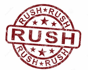Rush order processing time will ship 7-8 business days after ordered