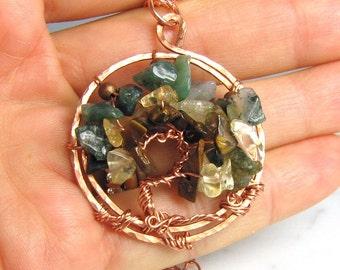 Gemstone Tree of Life Pendant - on Sale