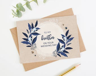 Brother Wedding Day Card