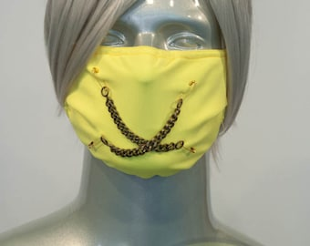 Yellow J-Rock Surgical Mask