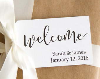 Welcome Tags - Welcome Bag Tags - Welcome Gifts - Wedding Welcome - Custom Tags - Personalized Tags - Wedding Favor Tags - MEDIUM