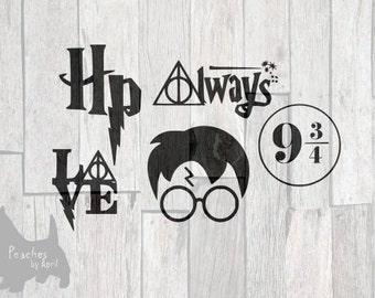 Harry Potter SVG, harry potter decor, harry potter gift, harry potter baby, harry potter party, harry potter mug, cricut svg, cut file