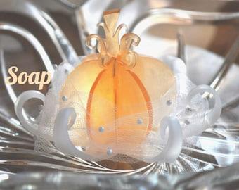 Pumpkin Carriage Wedding Favor - Soap - Bridal Shower Favor, Baby Shower Favor, Fairytale Wedding Favor, Decorative Soap, Fall Wedding