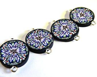 Mellifiori beads/ mellifiori flower beads/ purple beads/ handmade beads/ unique beads/ polymer clay beads/ beads for earrings/ unique beads