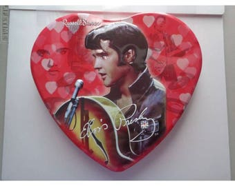 Leather Jacket Elvis Presley Valentine Heart Tin Russell Stover Collectible Box