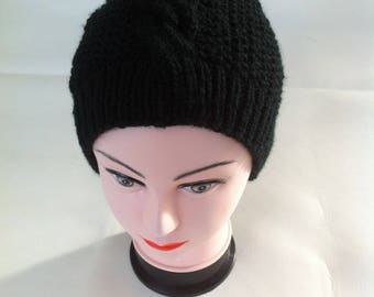 Black unisex Hat warm and soft