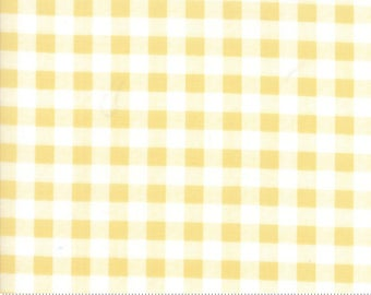 Gingham in Sunshine Yellow from the Farmer's Daughter Collection by Lella Boutique for Moda