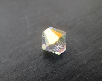 Swarovski Crystal 8 mm crystal AB * 2 charm