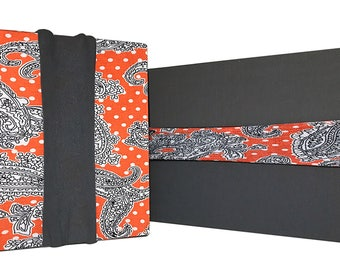 Reusable Gift Wrapping Value Pack - Paisleys & Polka-dots - Fabric, Eco-Friendly, No Tape or Scissors Needed!