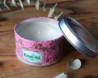 Kusmi tea candle // Rose Green Tea // Parisian // travel candle //  small size  // low scent
