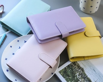 A5/A6 Creamy Color PU Planner Cover, PU Planner, Planner Case,Leather Planner Cover/Planner Binder