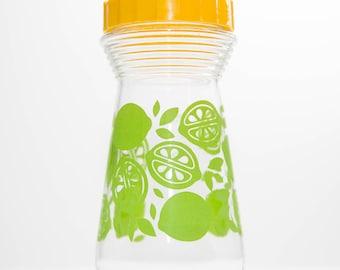 Citrus Yellow and Green Juice Carafe - 24oz - Vintage