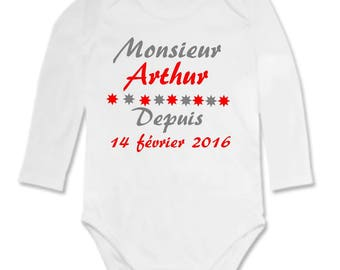 Mister Bodysuit for the personalized with name
