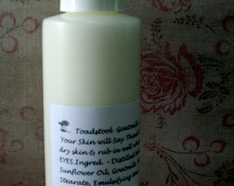 Coconut Lemongrass Body Lotion Light Creamy with Goatmilk by Toadstool Soaps
