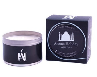 Luxury AGRA Scented Travel Candle by Aroma Holiday