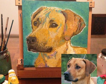Pet Canvas Art, Custom Pet Portrait, Dog Lover Gift, Pet Lover Gift, Custom Pet Painting, Dog Portrait, Dog Art, Pet Loss Gift