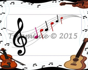 Music notes  for the Embroidery Machine - All sizes