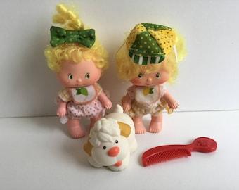 LEM & ADA Vintage Strawberry Shortcake Dolls w/ Pet