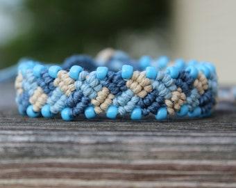 REDUCED. Macrame Bracelet. Tie On Bracelet. Knotted Hemp Bracelet. Adjustable Bracelet. Hemp Bracelet. Braided Bracelet. Friendship Jewelry.
