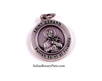 Saint Gerard Medal Patron Saint of Fertility, Childbirth and Pregnancy | Italian Rosary Parts