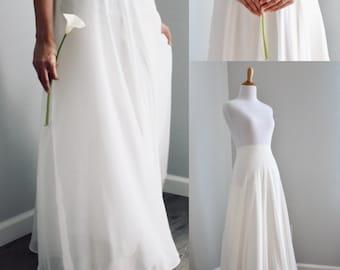 Chiffon Skirt/Maxi/Bridesmaid Skirt/Custom Color