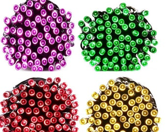 100 LEDs Pink, Green, Red, Warm White - 39ft. Waterproof Lights Solar Powered Outdoor String Lights   USA Seller ------ Fast Shipping