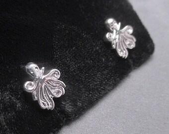 Octopus earrings - Sterling silver