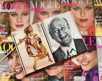 Ten Months 1978 Vogue Magazine; Patti Hansen, Rosanne Vela, Farah Fawcett, Gia Carangi, Avedon, Penn, more!