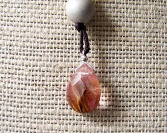 Gota De Fuego Necklace (Drop of Fire) Featuring Volcano Cherry Quartz