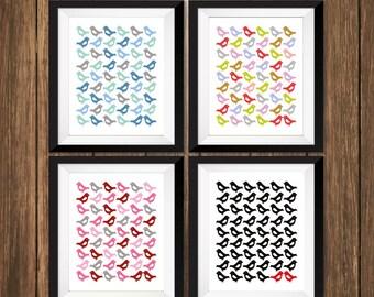 Lovebird Modern Art Print
