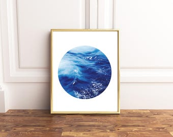 Ocean Print, Ocean Printable, Ocean Wall Art, Wave Print, Wave Wall Art, Waves Print, Sea Printable, Sea Waves Printable, Instant Download