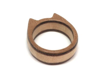Wooden ring for CAT Lovers, special edition and custom made with love, packed as a nice gift
