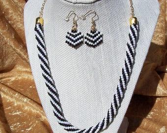 Jet Black Spiral Necklace