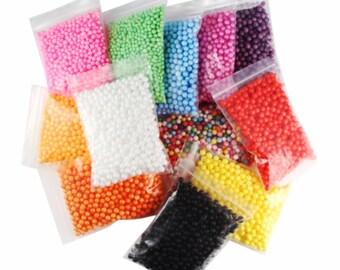 Foam Beads 12 Bags - Foam / Floam / Slime / Foam Beads / Foam Beads for Slime / Slime Supplies / Slime Beads / Crunchy Slime / Cheap Slime