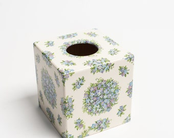 Blue Forget me Knot Tissue Box Cover wooden perfect Gift