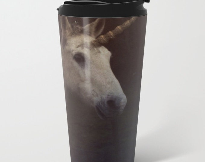 Unicorn Travel Mug Metal - Coffee Travel Mug -  Hot or Cold Travel Mug - 20oz Mug - Stainless Steel - Made to Order
