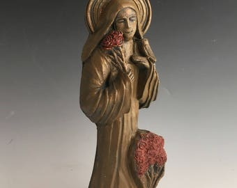 "Handmade St. Therese Statue: The Little Way, ""Holiness in Everyday Life"""