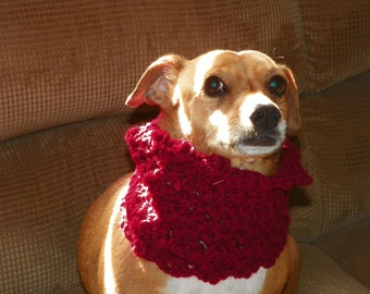 Red Dog Cowl Red Cowl Neck Warmer   Sizes XSmall-XXLarge