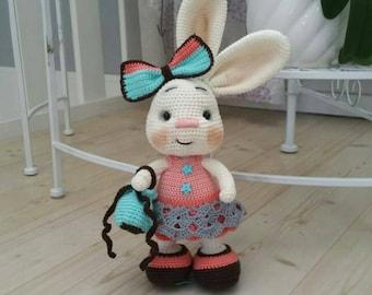 Crochet bunny /handmade bunny /amigurumi bunny /stuffed animal /stuffed doll