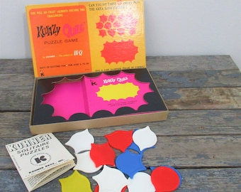 Kwazy Quilt, Brain Teaser, Gift for Quilter, Puzzle Game, Learning Toy, Vintage Game