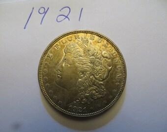 1921 Morgan Silver Dollar  w/free ship