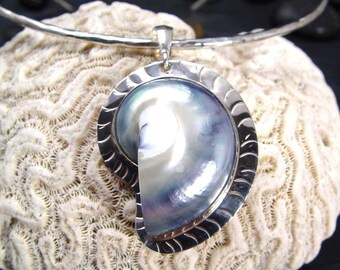 NAUTILUS Osmena Shell Pendant With Hidden Treasure of Pearls ARTISAN Made