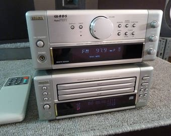 Denon D-M10 Mini Components - Stereo Receiver & 3 Disc CD Changer - Serviced and Reconditioned