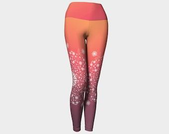 Sunrise yoga leggings,yoga pants,yoga capris,leggings,activewear,women's leggings,workout leggings,yoga clothing,jog pants,gifts for her